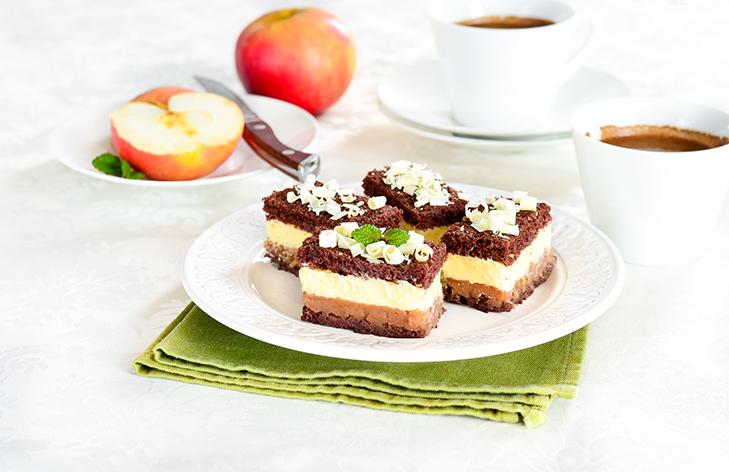 Kolač s kremom od jabuka i vanilije -Kilimanjaro kocke